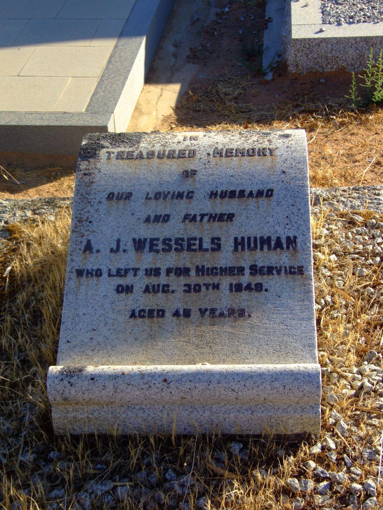 Human, A. J. Wessels