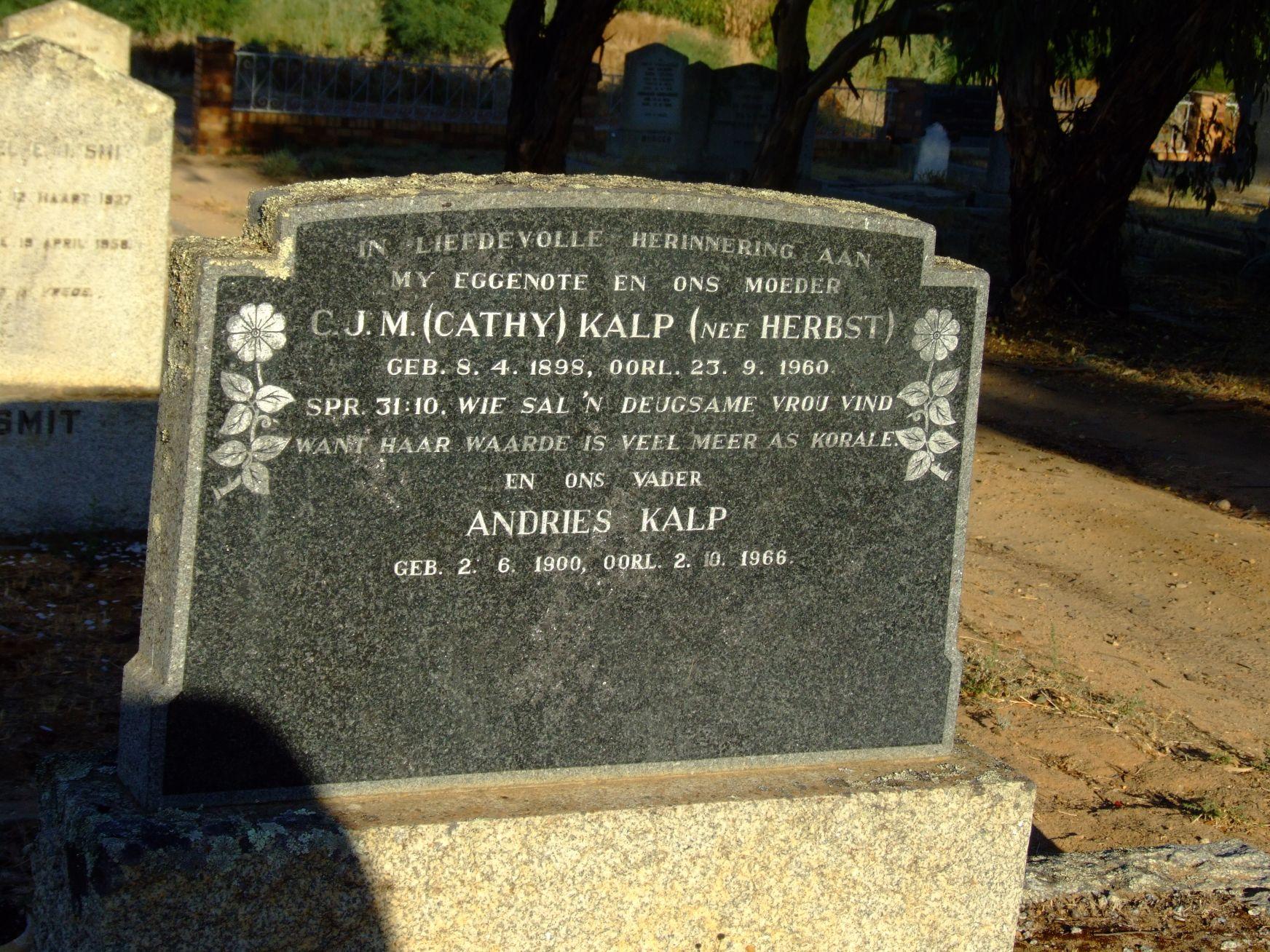Kalp, Andries + Kalp C. J. M.