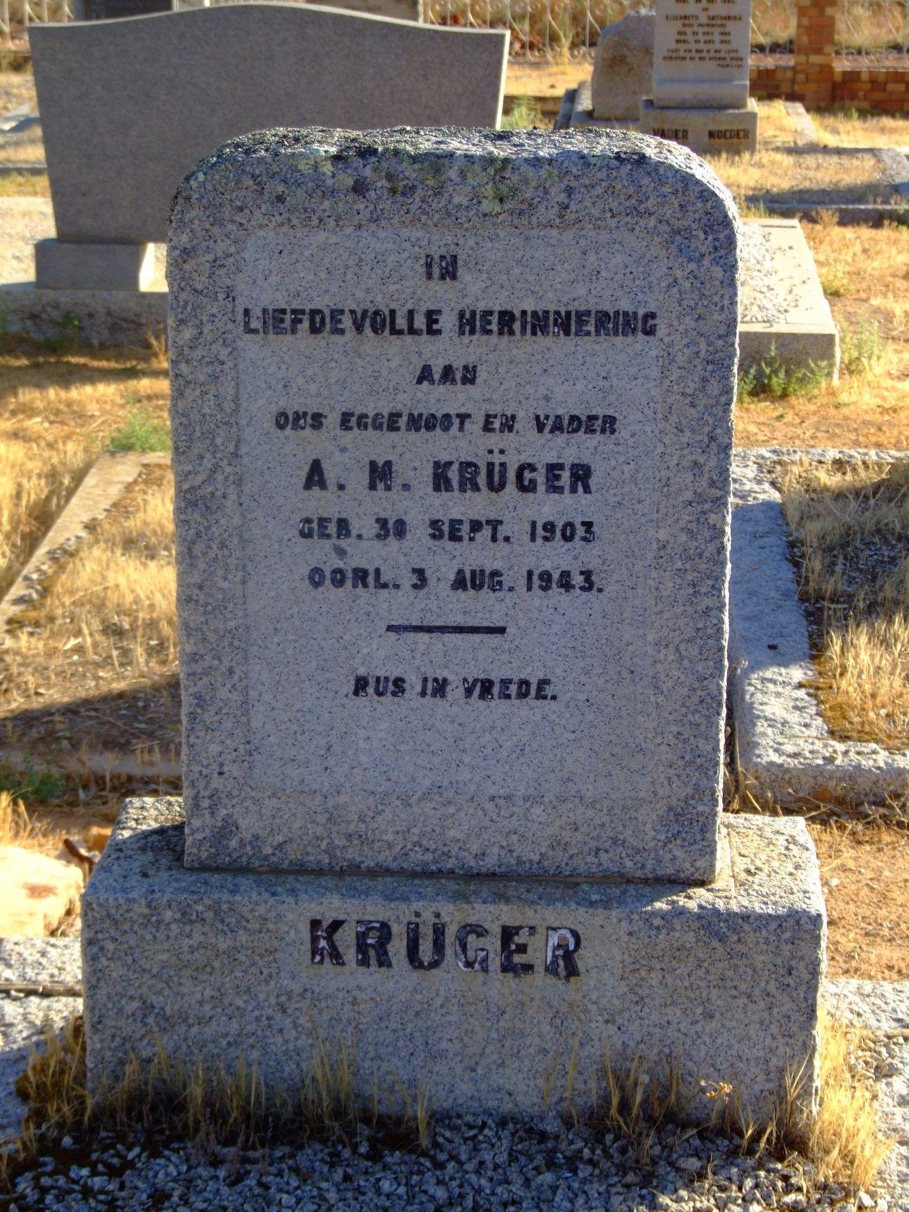 Kruger, A. M.