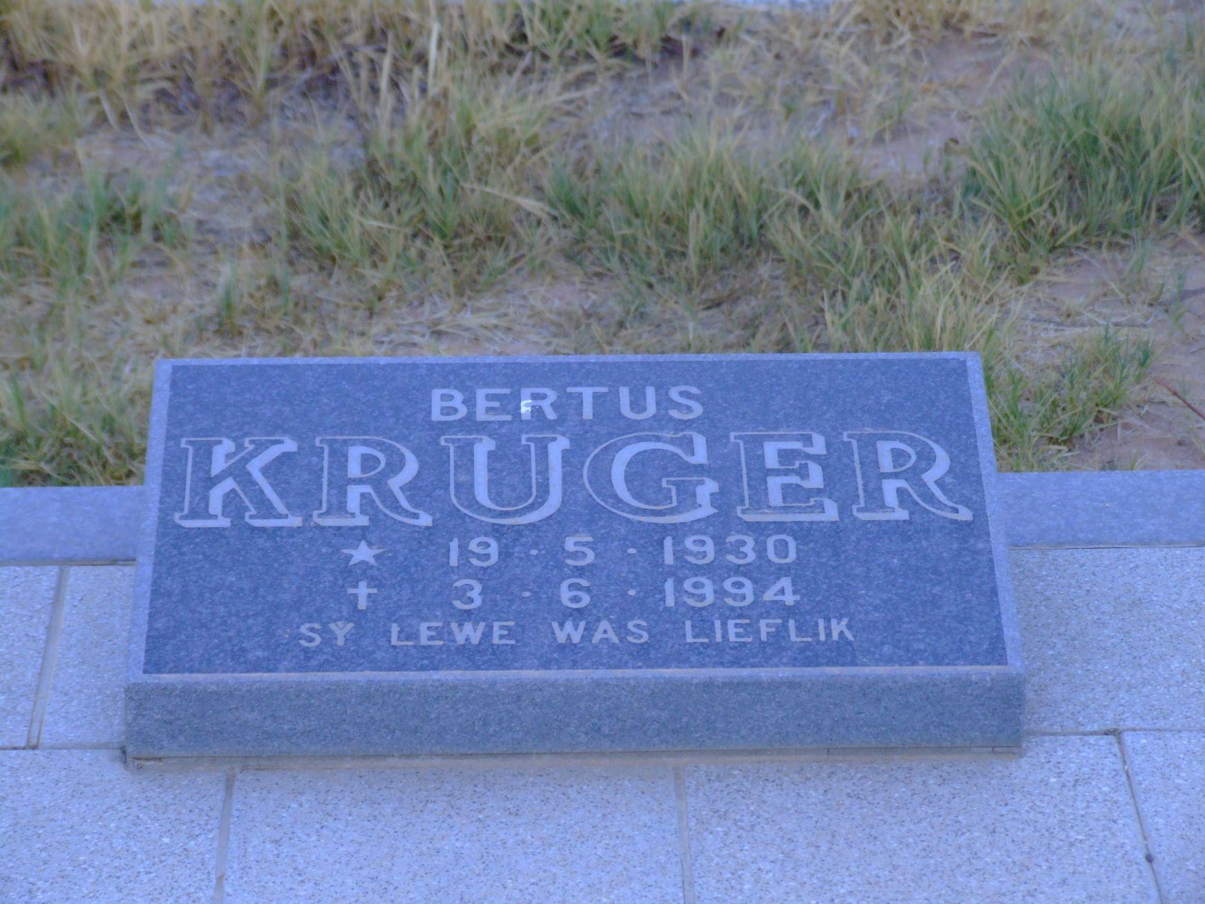 Kruger, Bertus