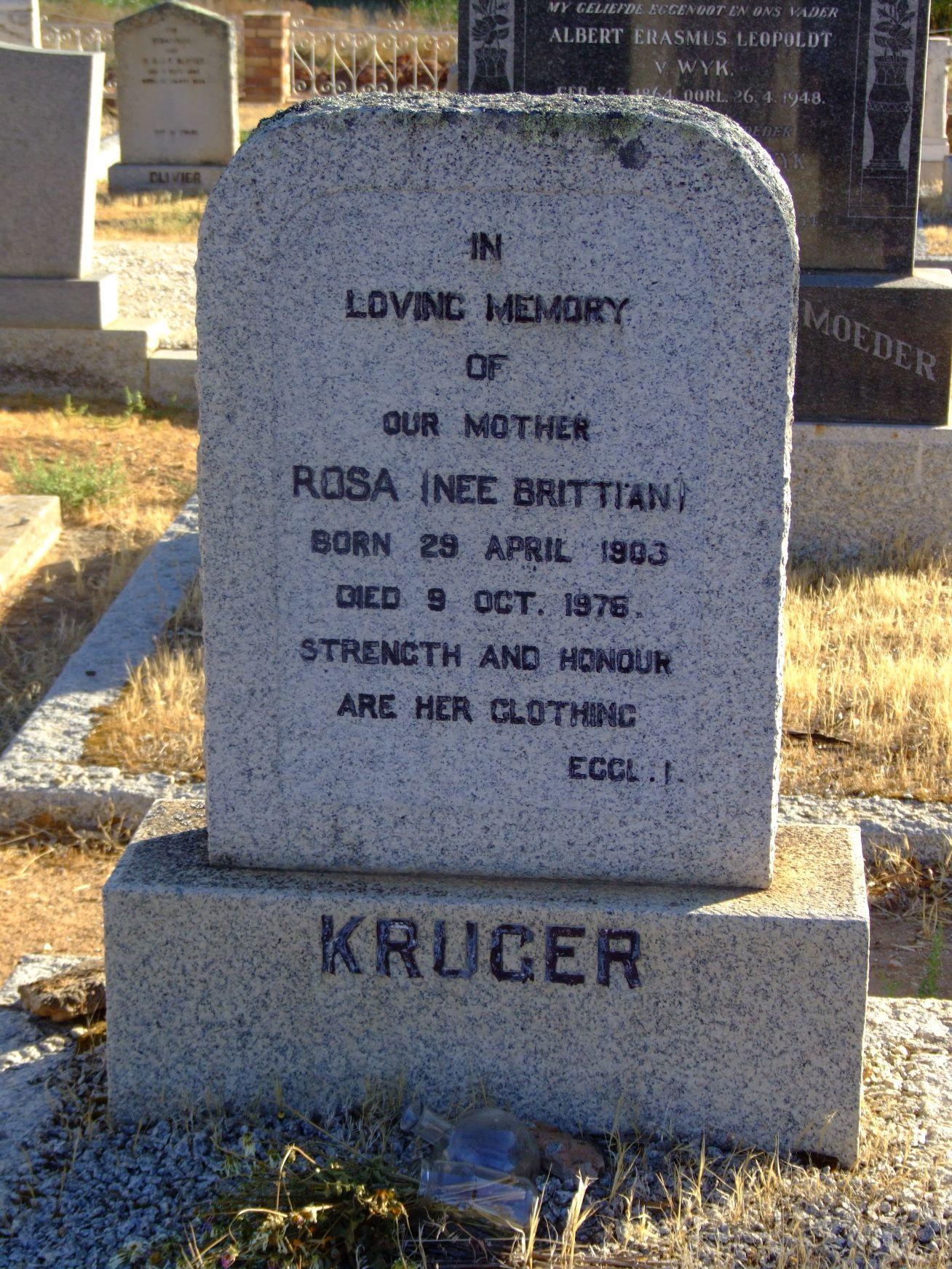 Kruger, Rosa