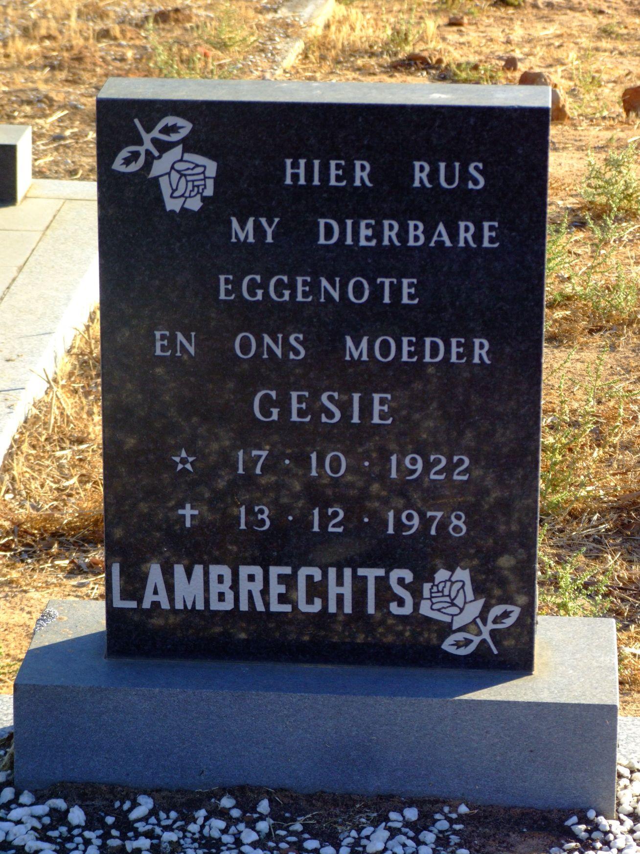 Lambrechts, Gesie