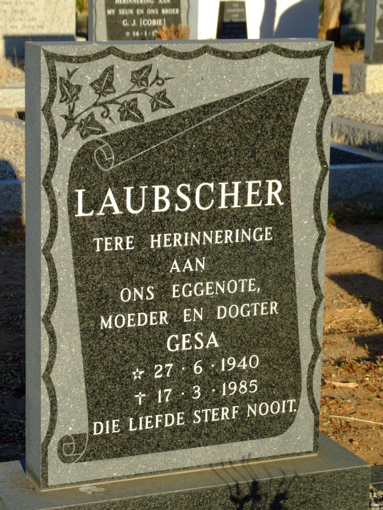 Laubscher, Gesa