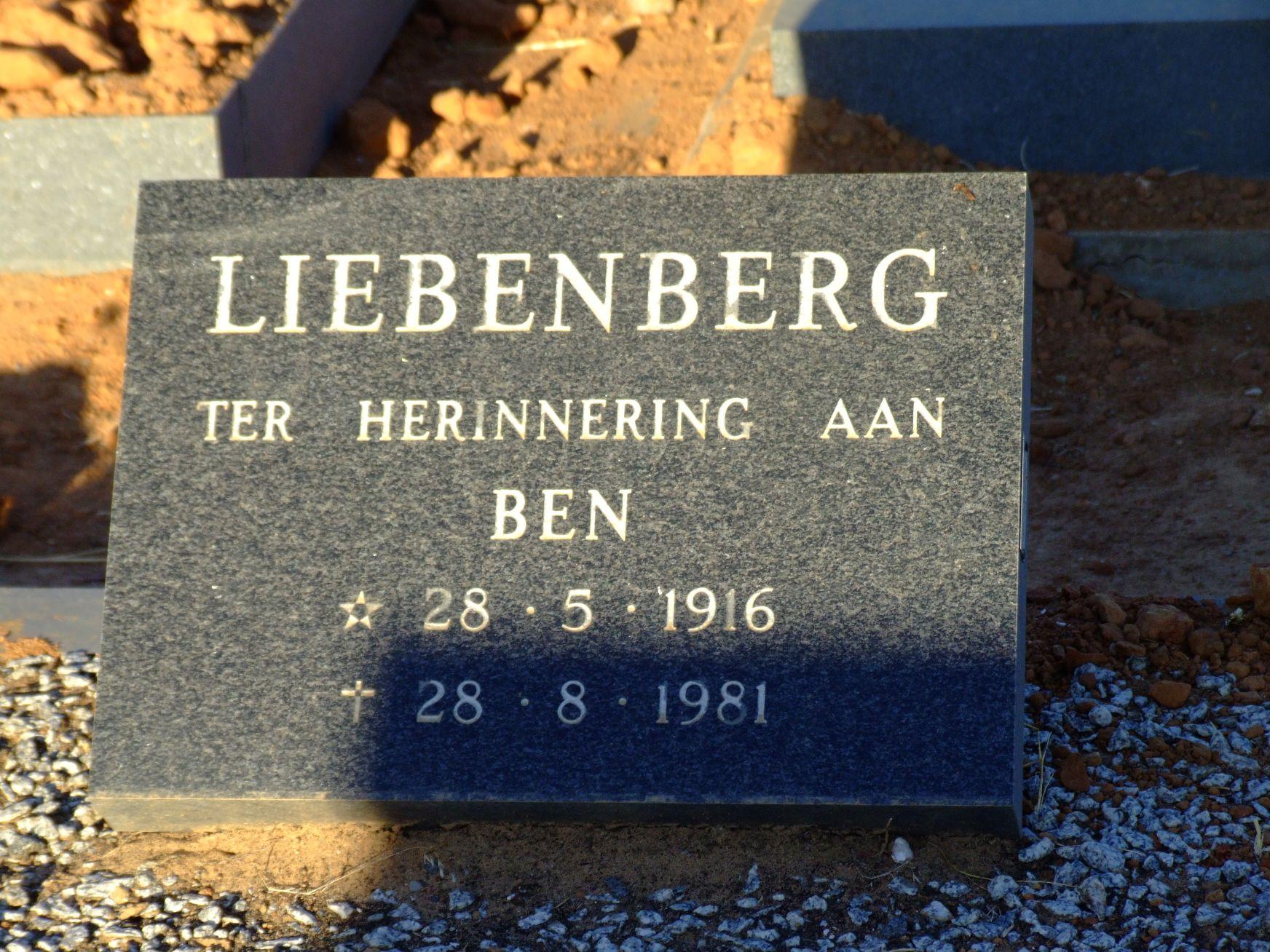 Liebenberg, Ben
