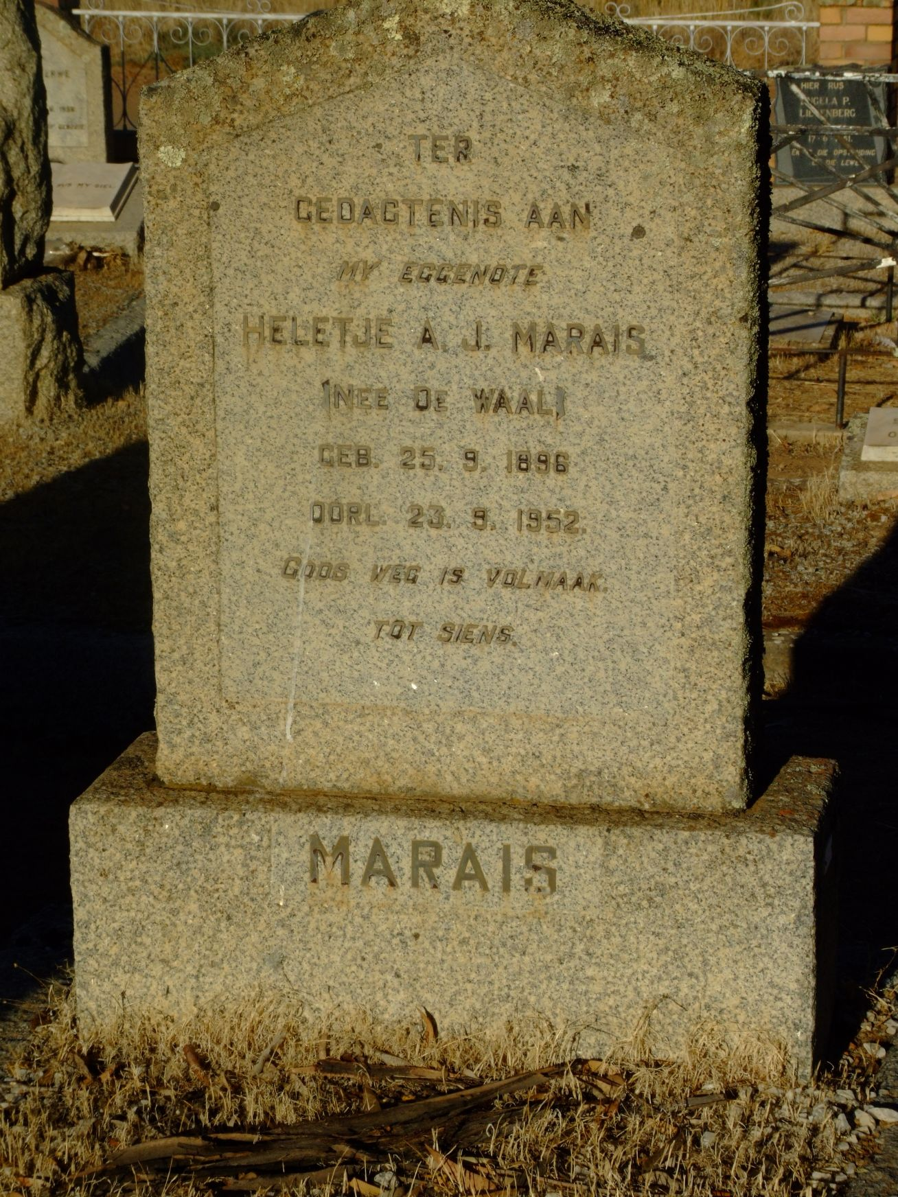 Marais, Heletje A. J. born de Waal