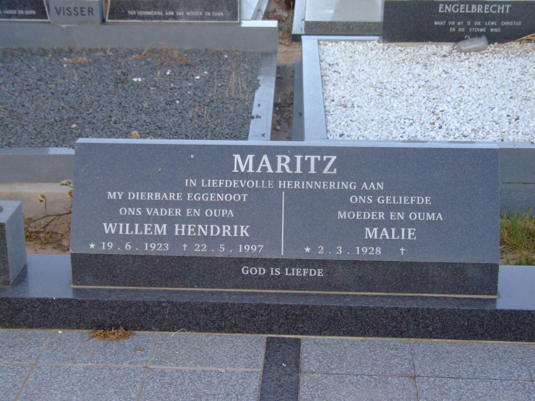Maritz, Willem Hendrik and Malie