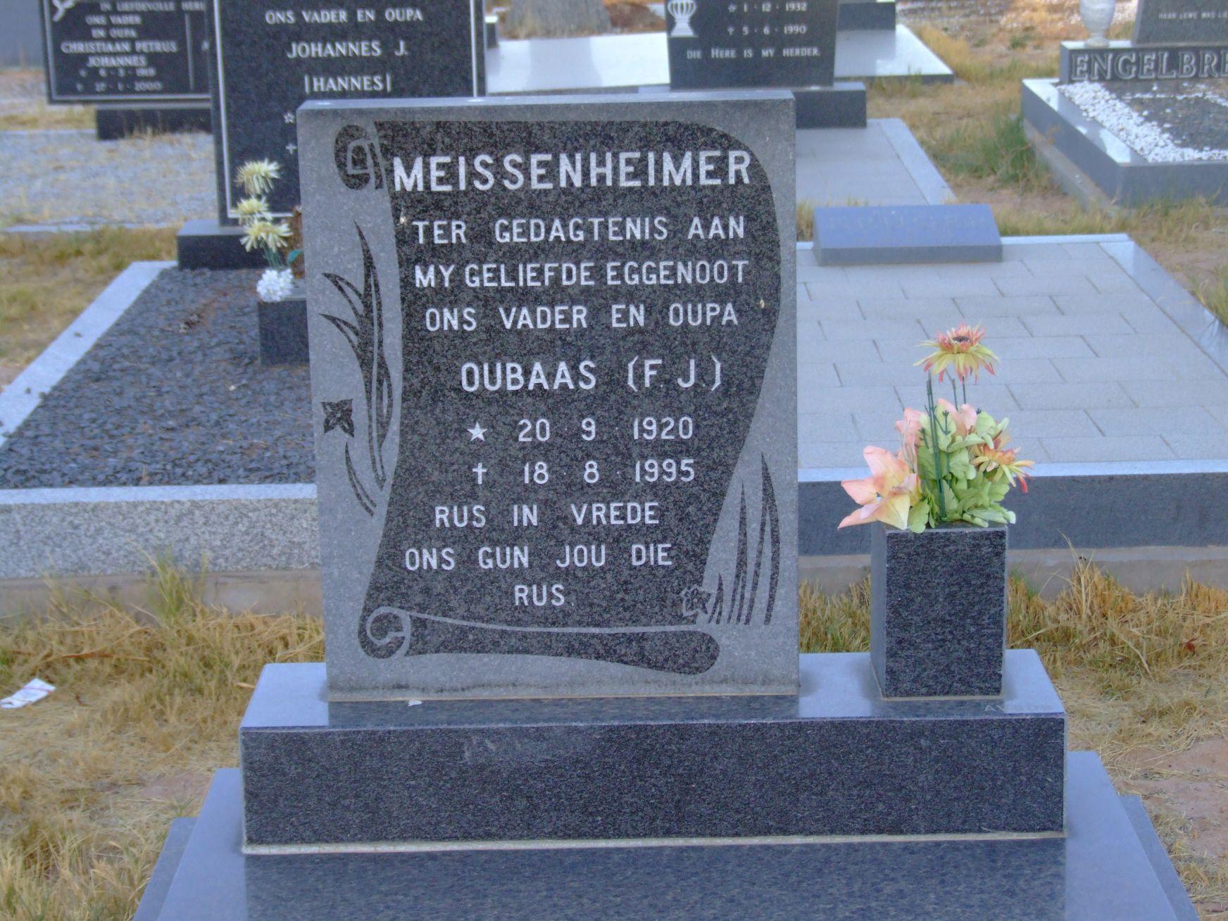 Meissenheimer, Oubaas (F.J.)
