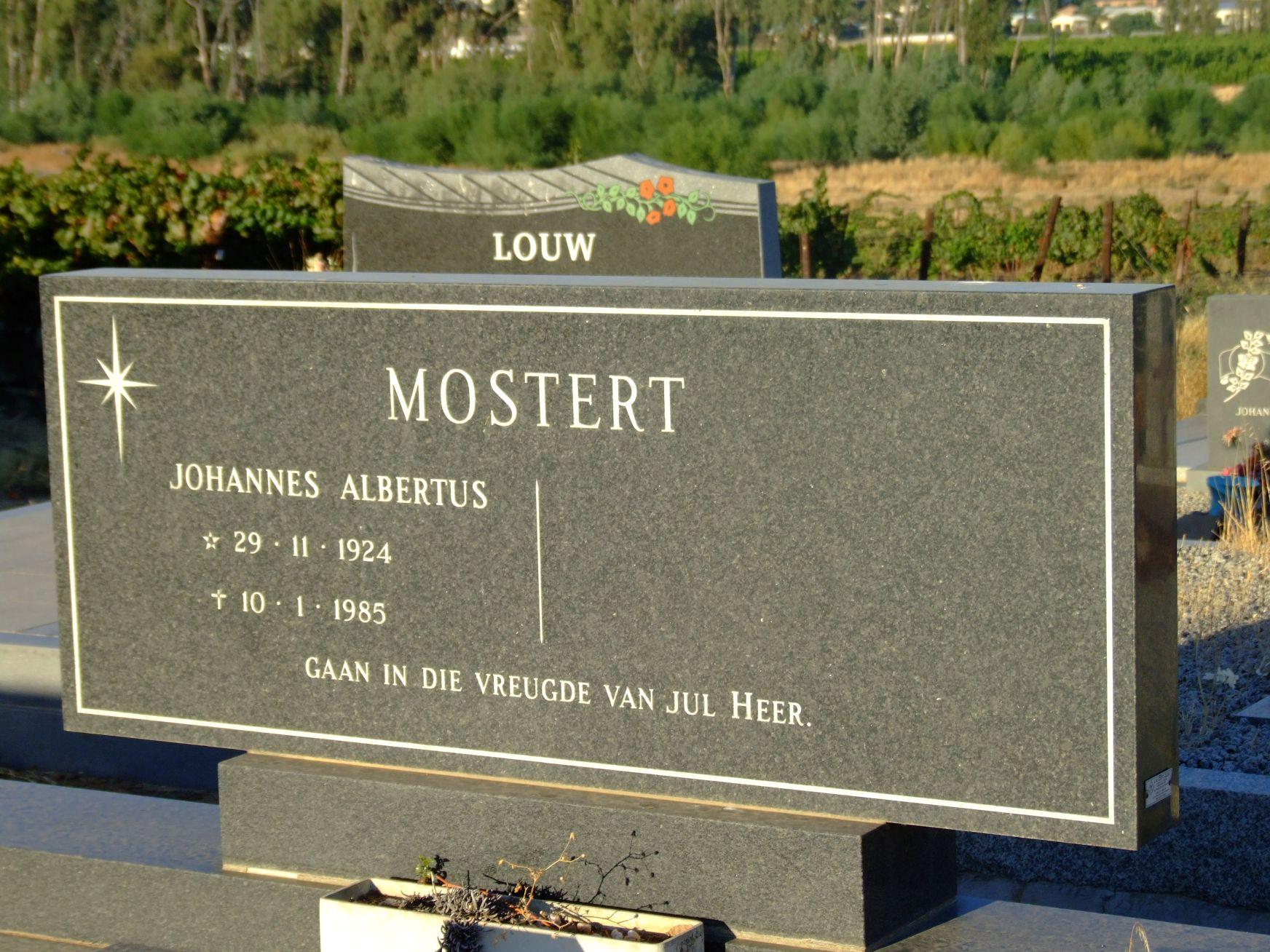 Mostert, Johannes Albertus