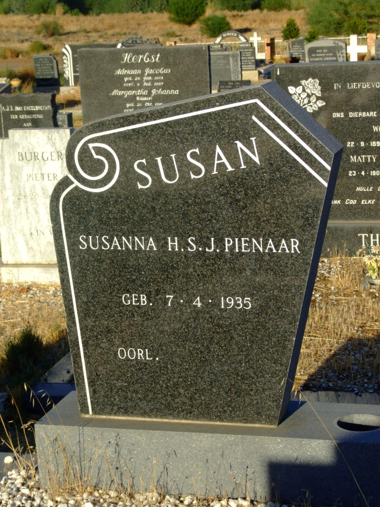 Pienaar, Susanna H S J