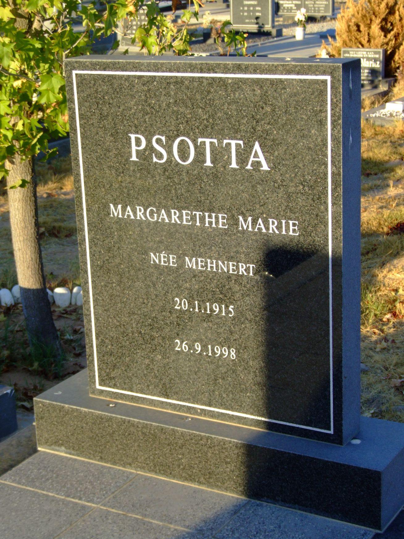 Psotta, Margarethe Marie