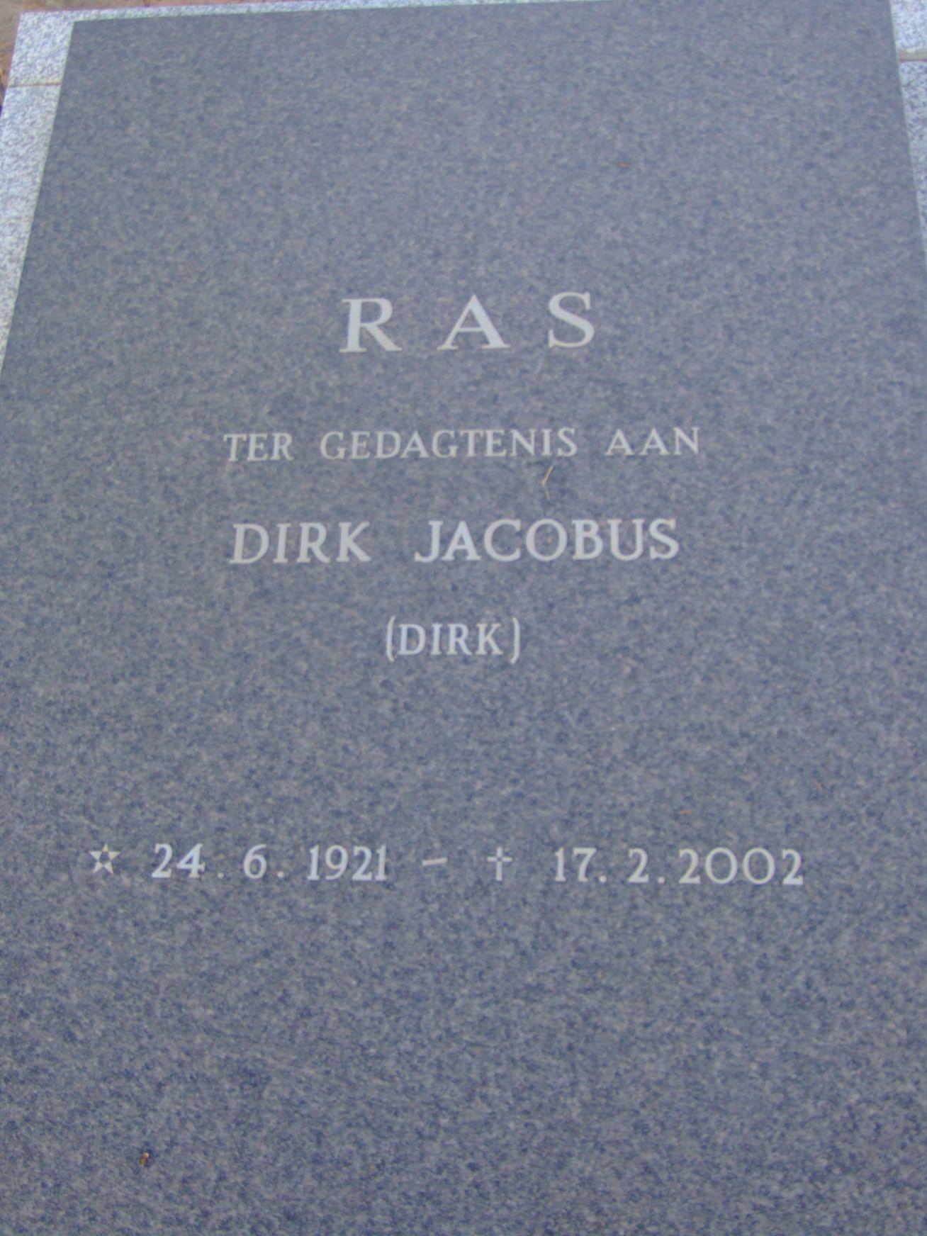 Ras, Dirk Jacobus