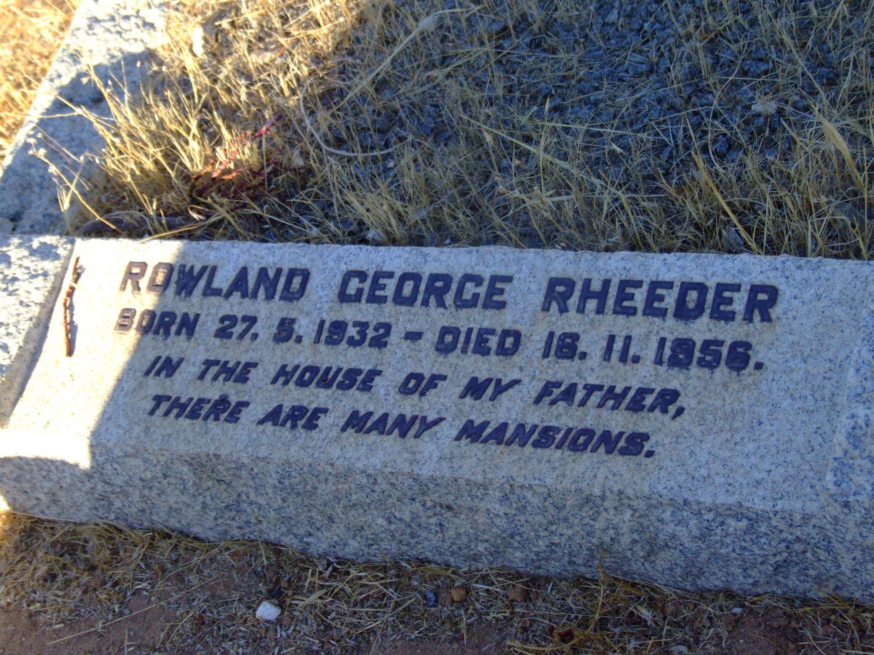Rheeder, Rowland George