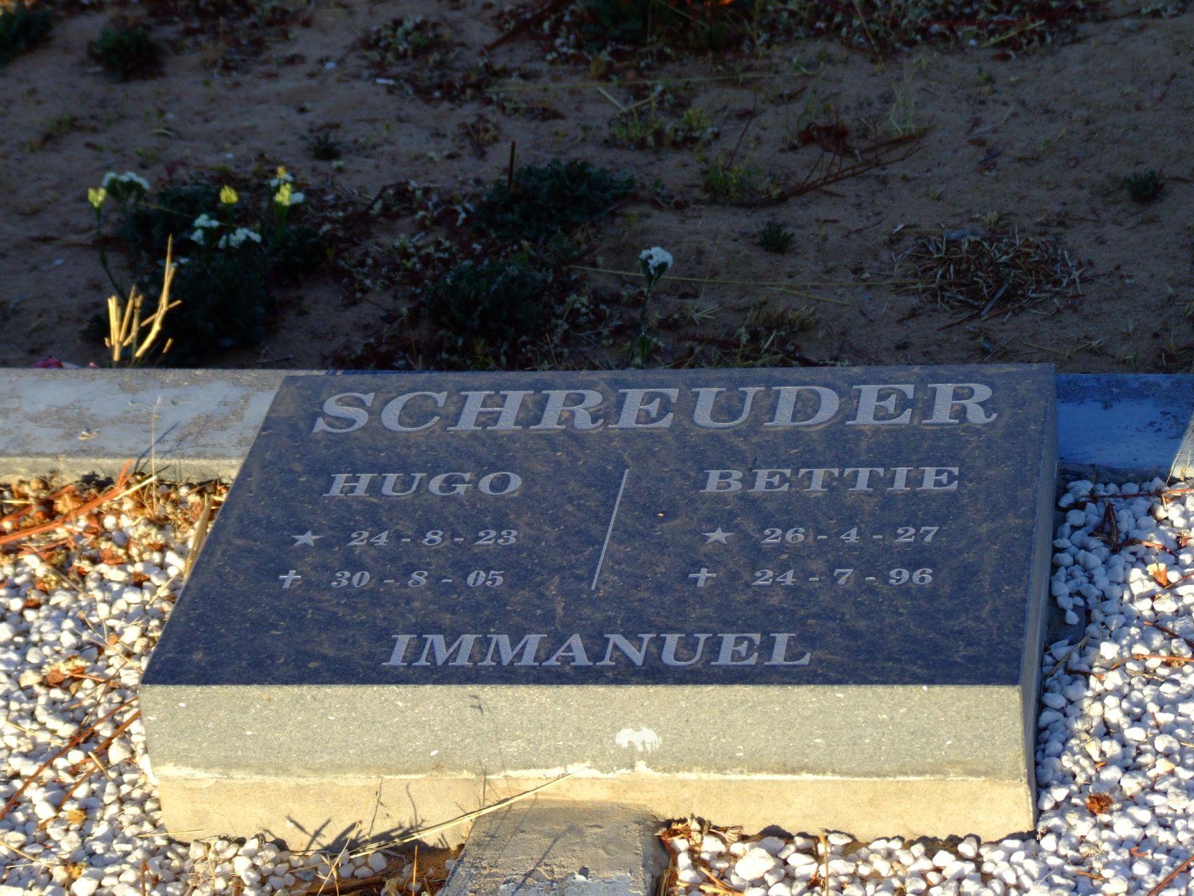 Schreuder, Hugo + Schreuder Hettie