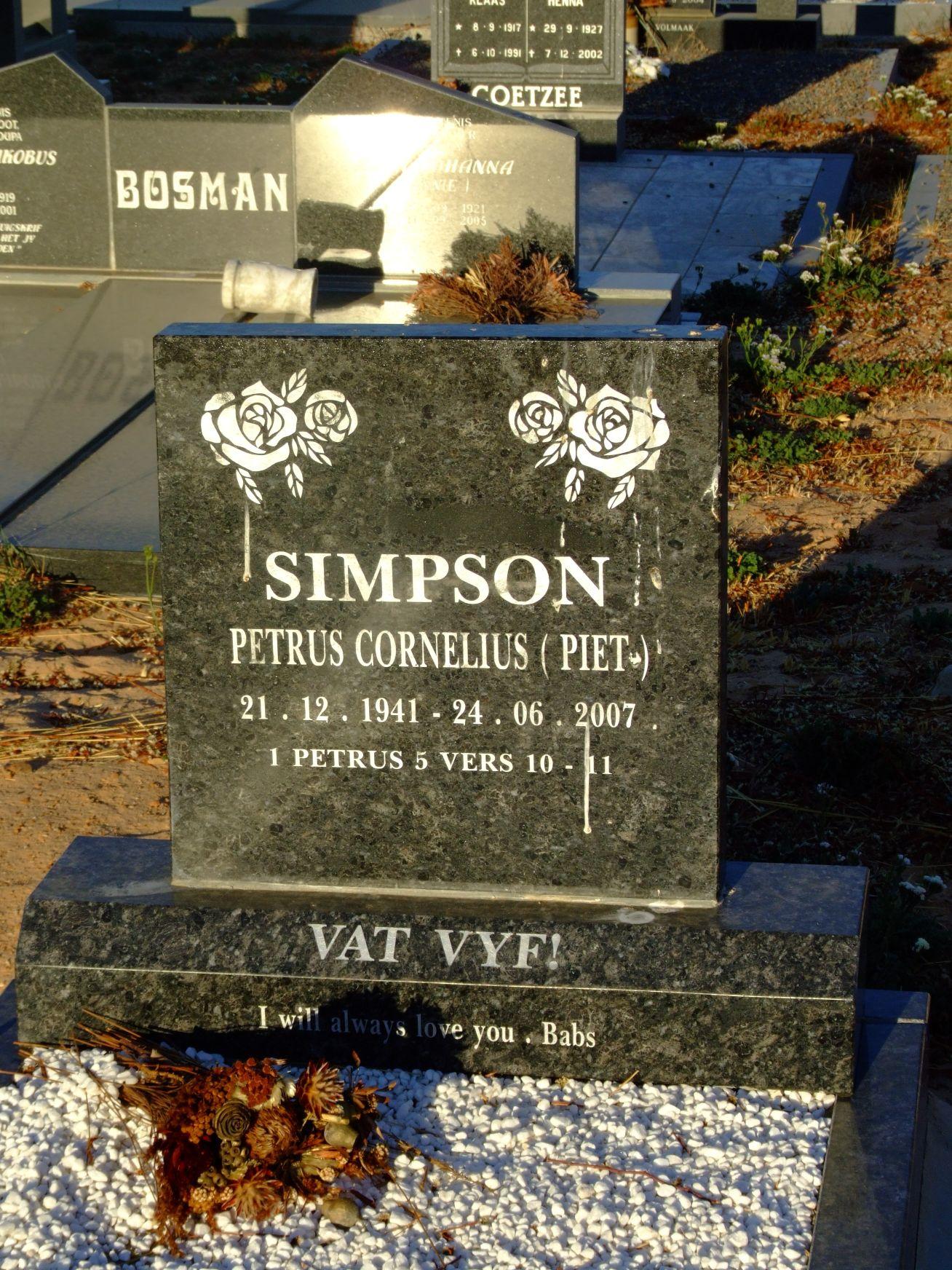 Simpson, Petrus Cornelius