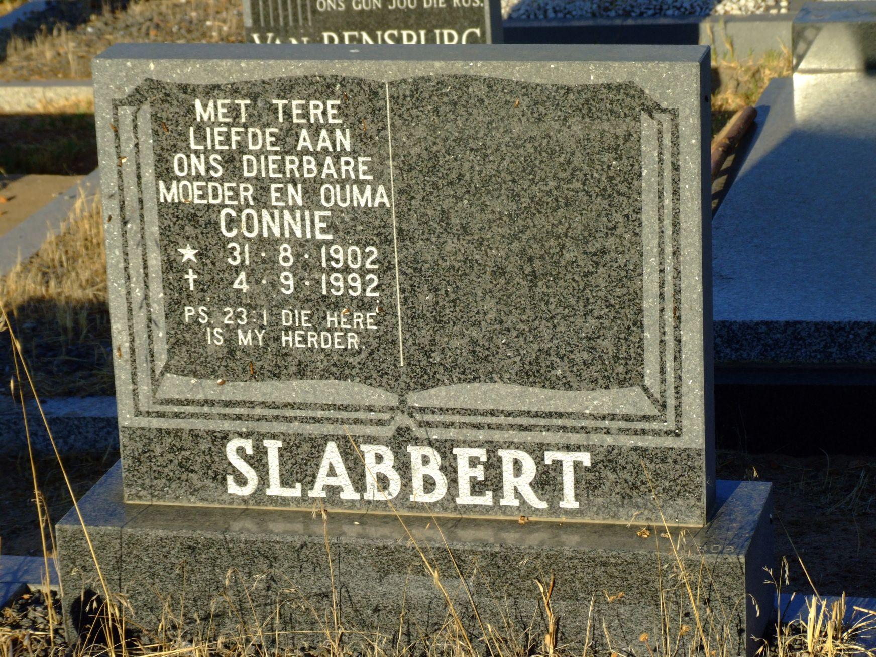 Slabbert, Connie