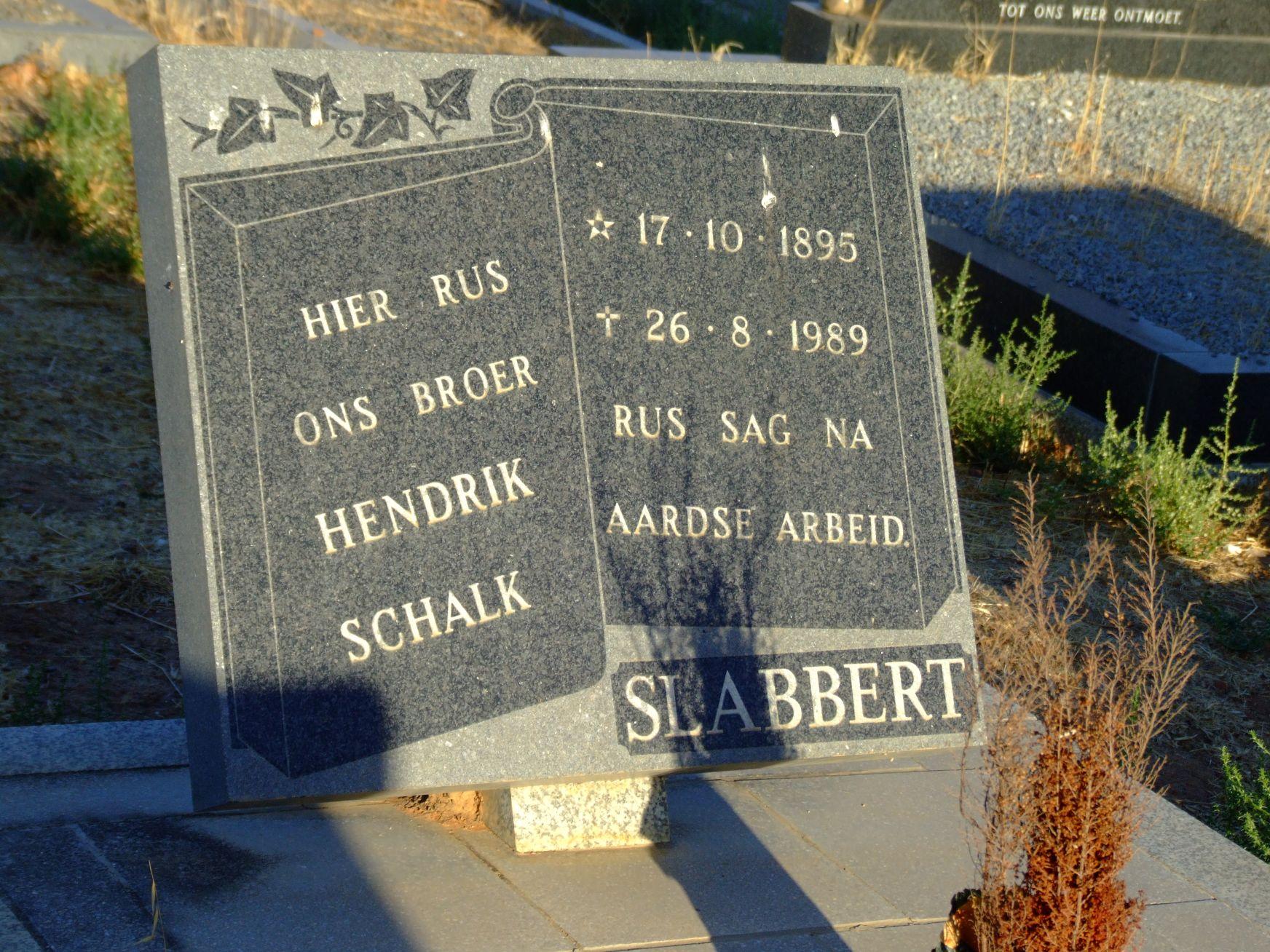 Slabbert, Hendrik Schalk