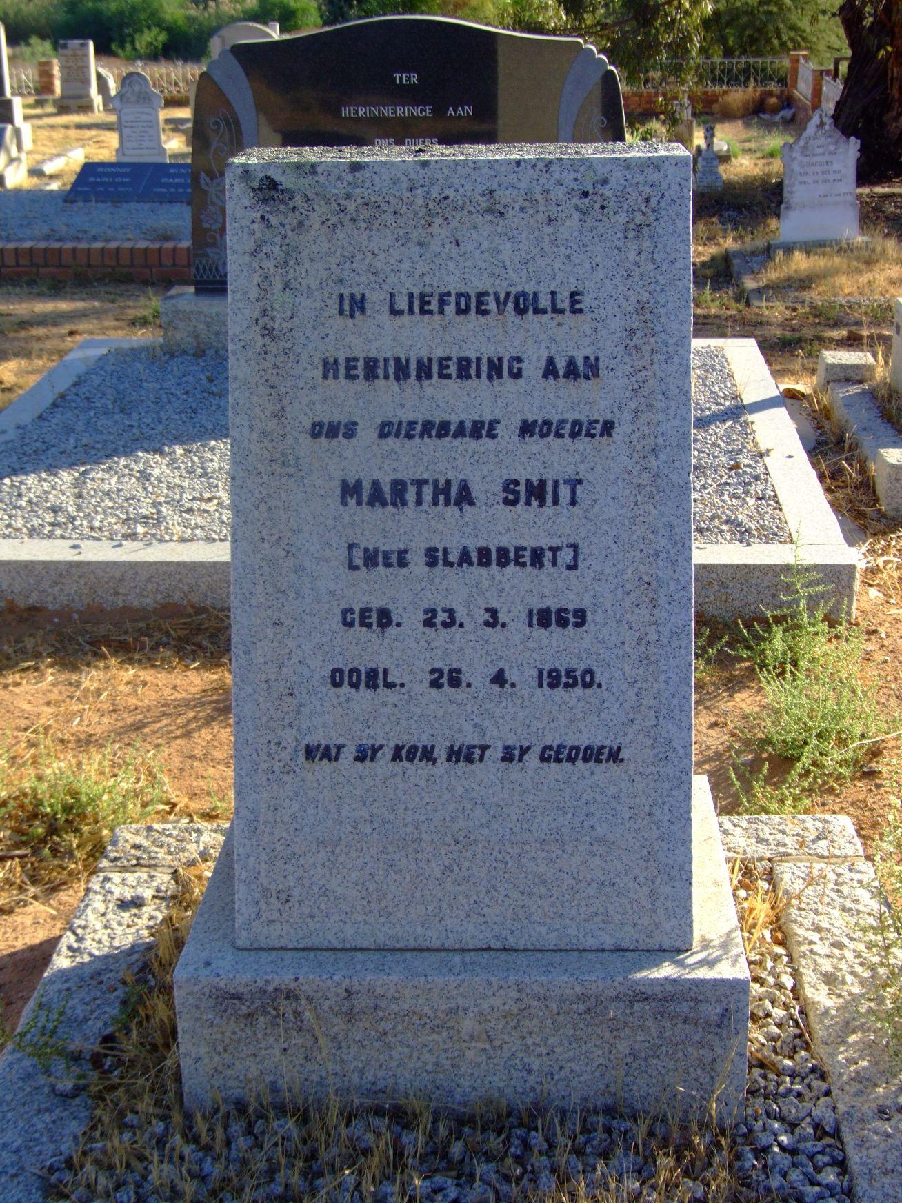 Smit, Martha