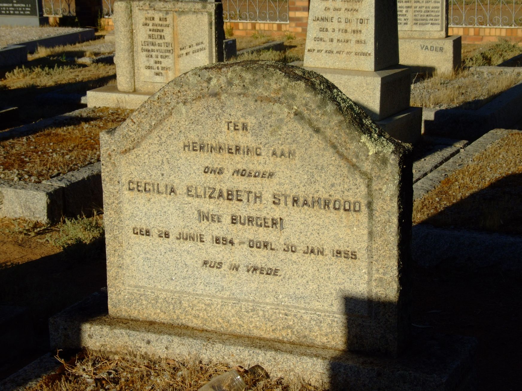 Stramrood, Cecilia Elizabeth