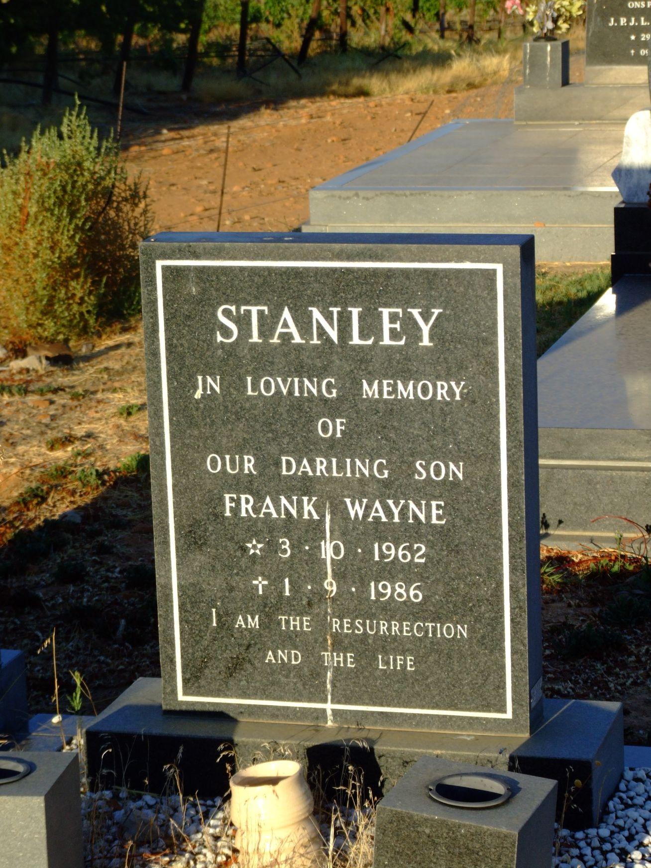 Stanley, Frank Wayne