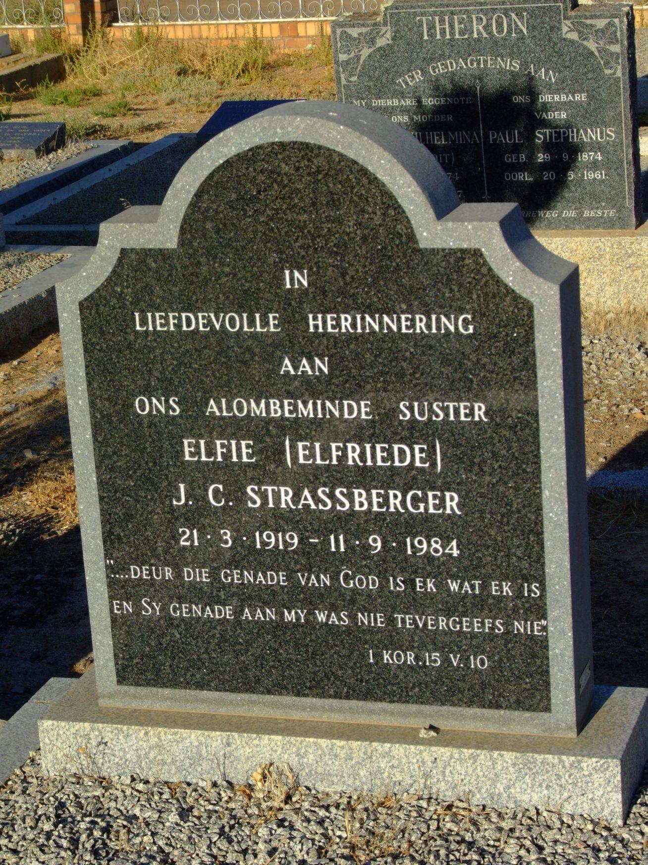 Strassberger, Elfriede J.C. (Elfie)