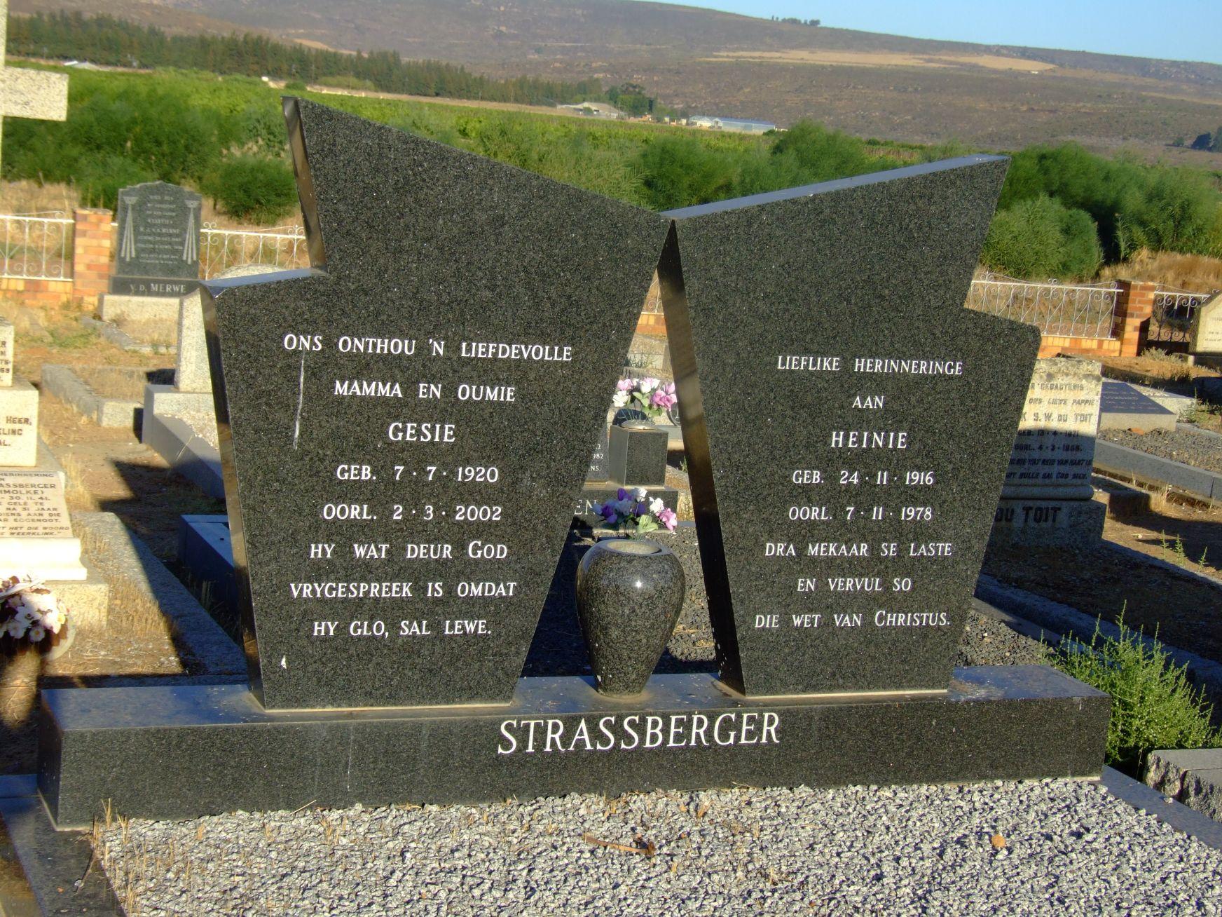 Strassberger, Gesie + Strassberger, Heinie