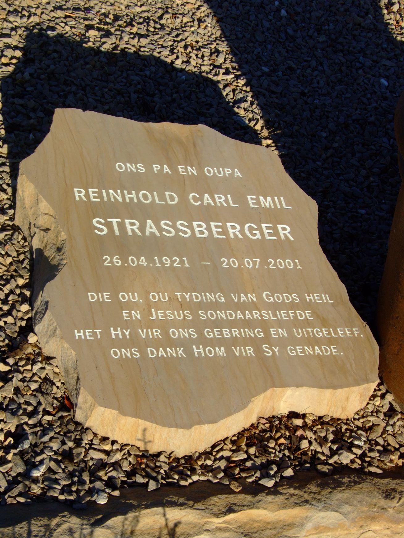 Strassberger, Reinhold Carl Emil