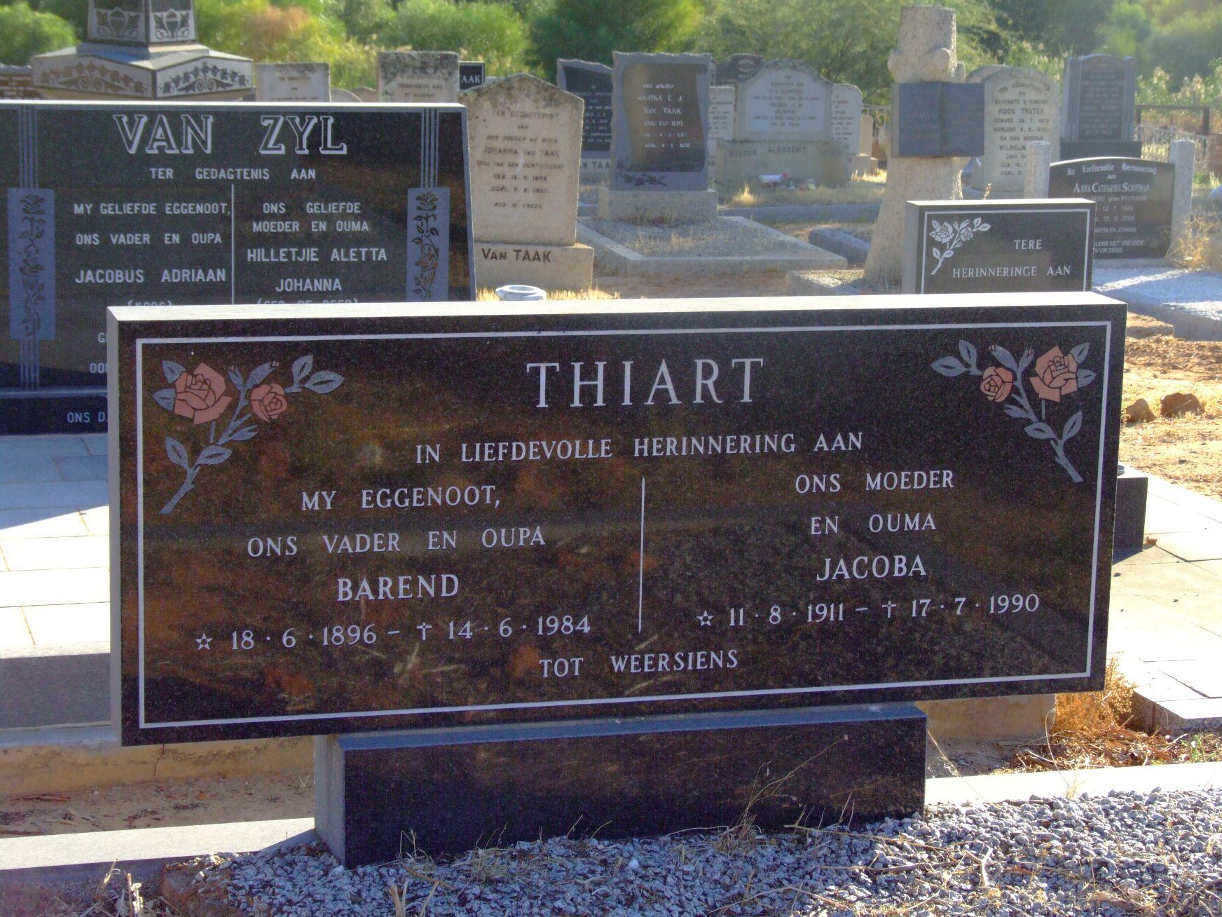 Thiart, Barend + Thiart, Jacoba
