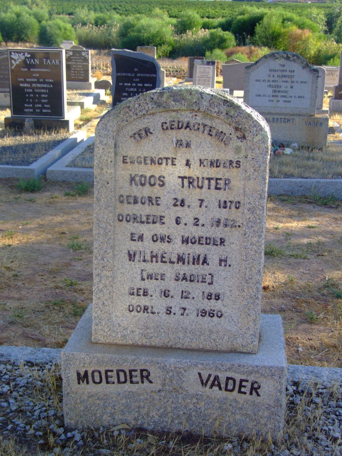 Truter, Koos + Truter, Wilhelmina H.