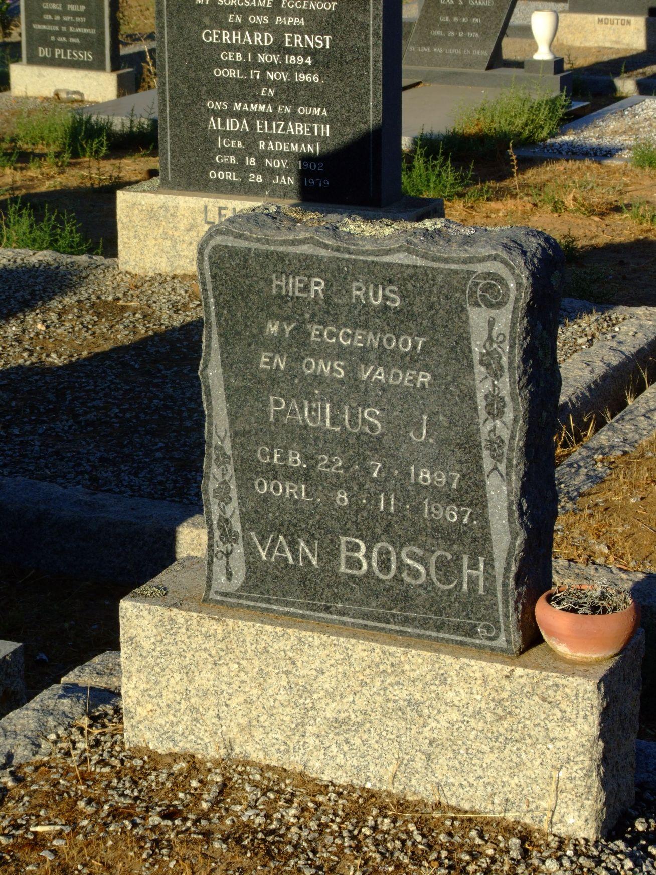Van Bosch, Paulus J.