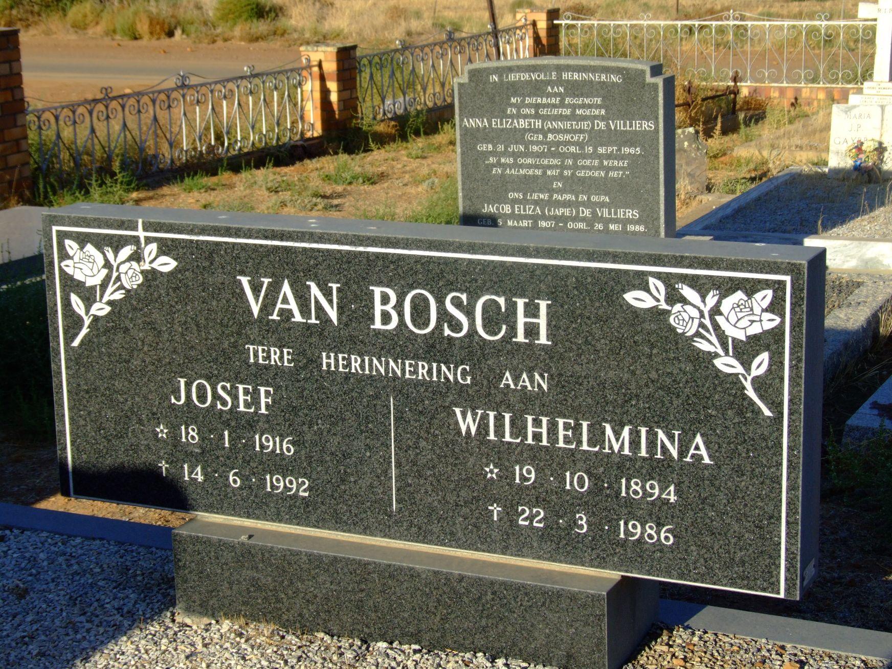 Van Bosch, Josef + Van Bosch, Wilhelmina
