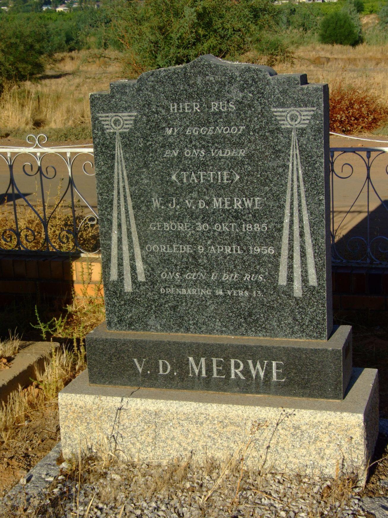 Van Der Merwe, W. J.