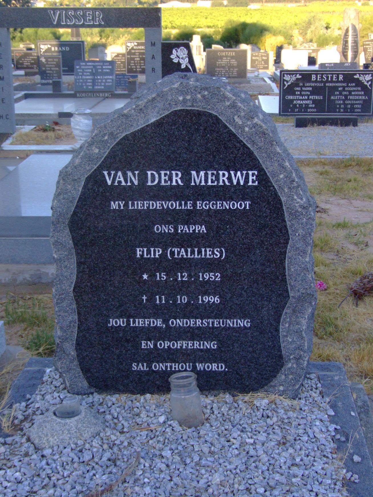Van Der Merwe, Flip