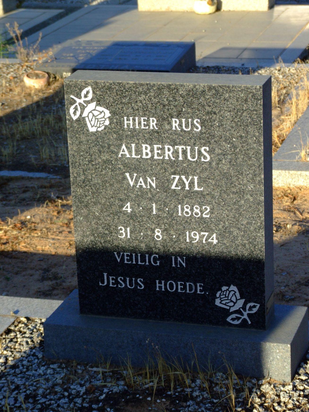 Van Zyl, Albertus