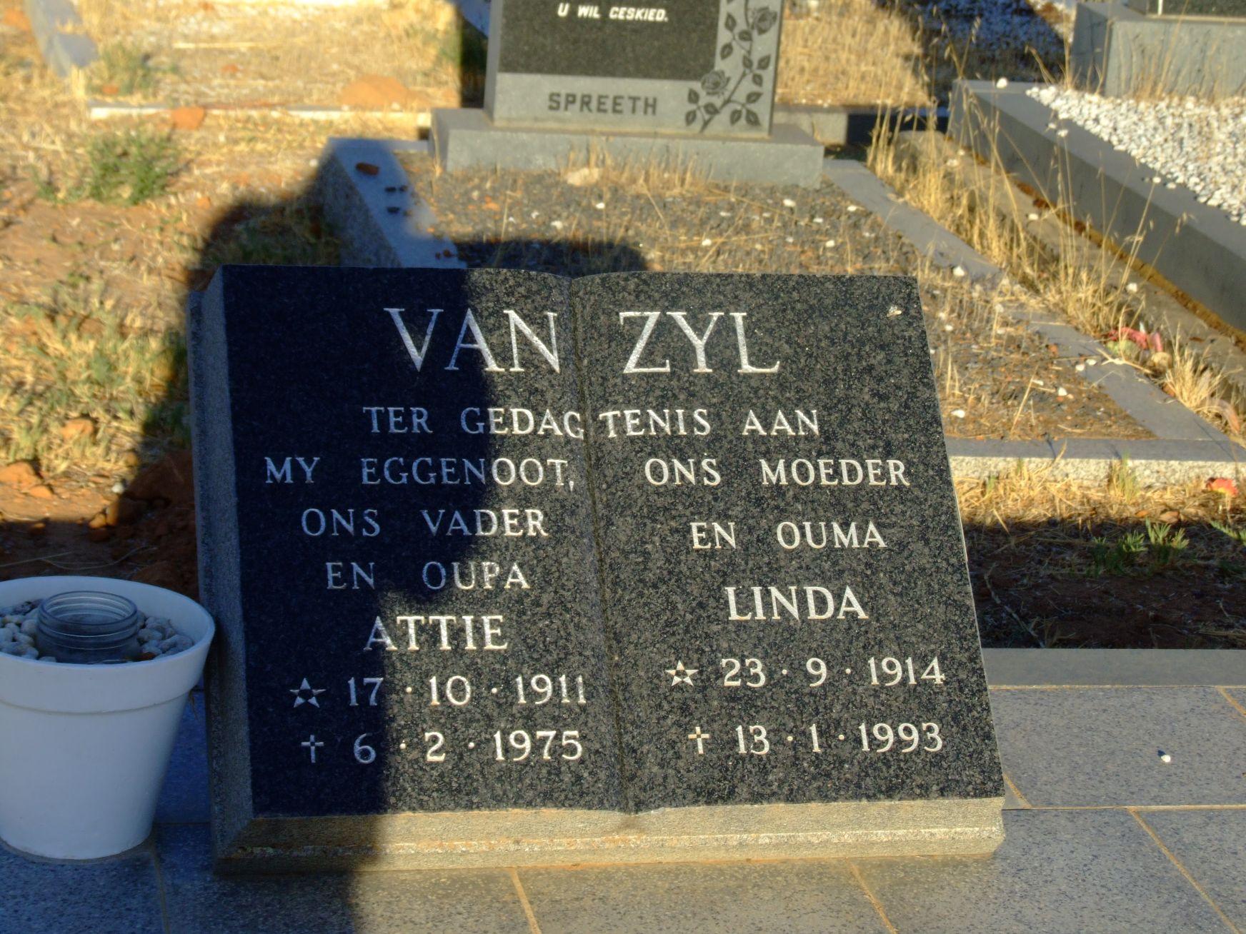 Van Zyl, Attie and Linda