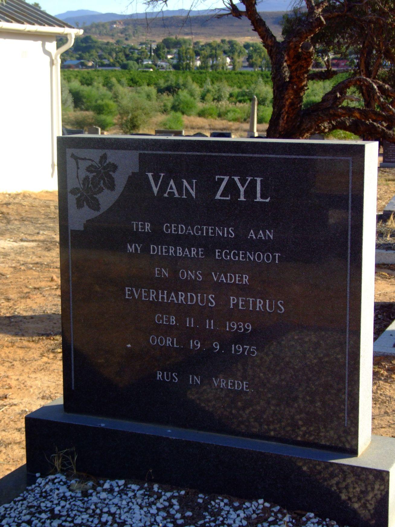 Van Zyl, Everhardus Petrus