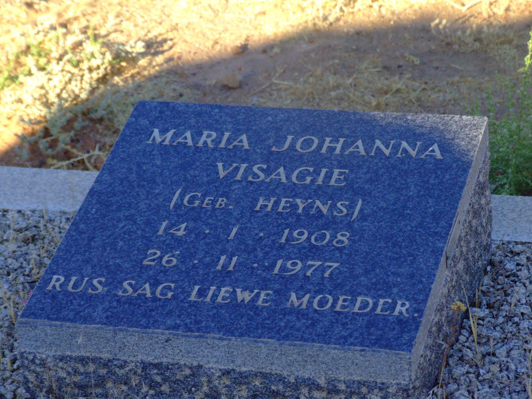 Visagie, Maria Johanna