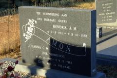 Amon, Hendrik J. H and Johanna C. W. nee Vermeulen
