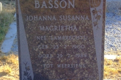 Basson, Johanna Susanna Magrietha nee Lambrechts