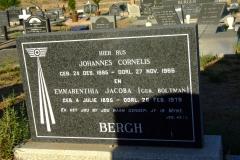 Bergh, Johannes Cornelis + Bergh, Emmarenthia Jacoba (neè Boltma