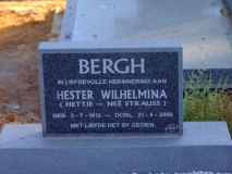 Bergh, Hester Wilhelmina (neè Strauss)