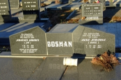 Bosman, Johannes Jakobus + Bosman Anna Johanna
