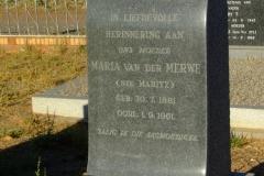 van der Merwe, Maria (nee Maritz)