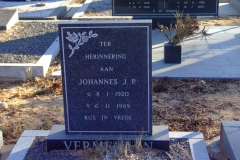 Vermeulen, Johannes J P