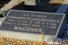 Wagener, Johannes H.F. + Wagener, Magdalena M.