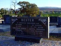 Bester, Christiaan Petrus Johannes + Bester, Aletta Frederika (G