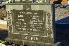 Boucher, John Edwin + Boucher Maria Magdalena