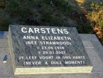 Carstens, Anna Elizabeth (nee Stamrood)