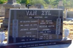 Van Zyl. Jacobus Adriaan & Hilletjie Aletta Johann nee De Beer