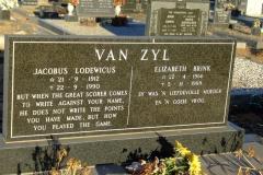 Van Zyl, Jacobus Lodewicus and Elizabeth Brink