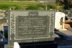 Van Zyl, Johannes H. C. and Maria nee Gaybba